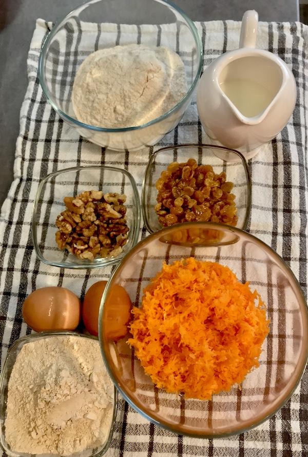 brioșe cu morcovi și fără gluten